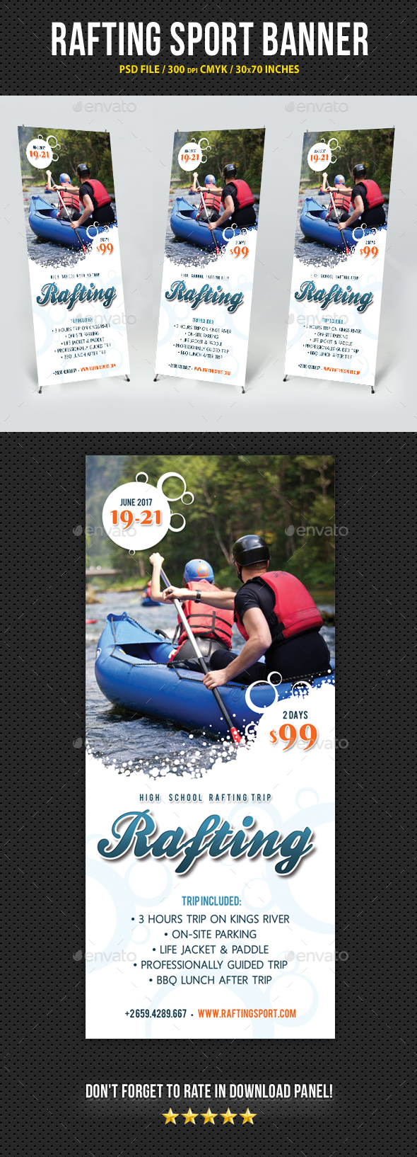Rafting Banner Sport Template V2 - Signage Print Templates