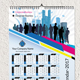 1 Page Wall Calendar 2017 - GraphicRiver Item for Sale