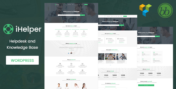 iHelper – Helpdesk and Knowledge Base WordPress Theme
