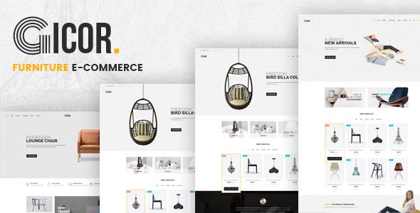 Gicor - eCommerce Furniture Template - Shopping Retail