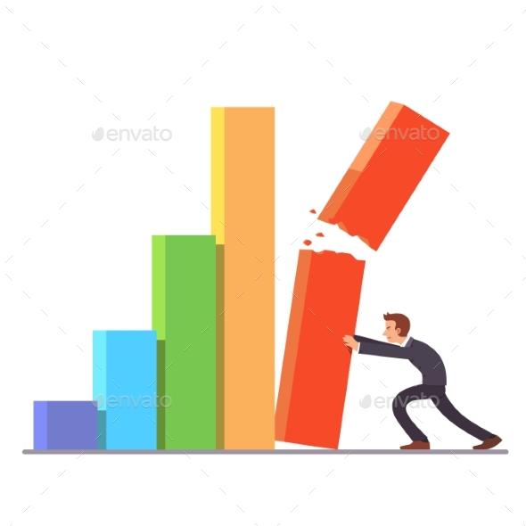 Failing Growth Crisis Concept - Concepts Business
