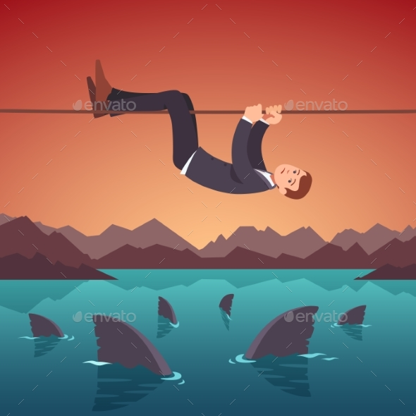 Business Risks and Difficulties Concept - Concepts Business