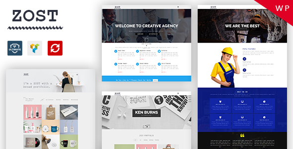 Zost – Portfolio / Agency / Multipurpose WordPress Theme