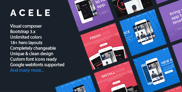 Download Acele – Responsive Clean WordPress Software Theme nulled 00 item preview