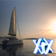 Yacht Sailing Against Sunset - VideoHive Item for Sale
