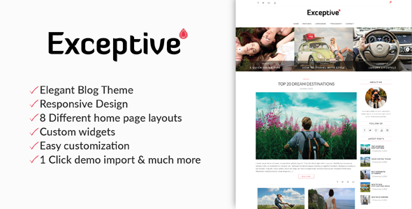 Exceptive – Elegant WordPress Theme