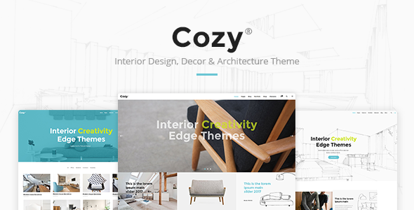 Cozy – Interior Design, Decor & Architecture Theme