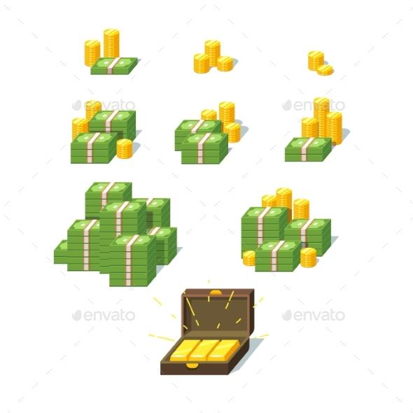 Money Piles Set - Concepts Business