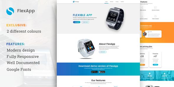 FlexApp – Creative Multipurpose App Landing Page