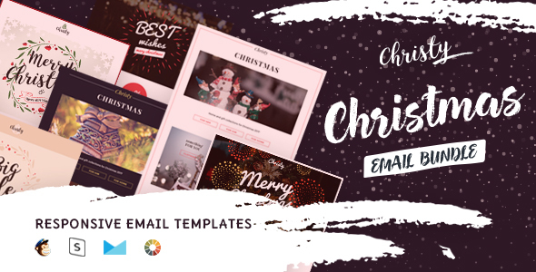 Christy - Christmas Email Templates Set + StampReady Builder - Email Templates Marketing