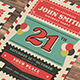 Old Retro Airmail Birthday Party - GraphicRiver Item for Sale