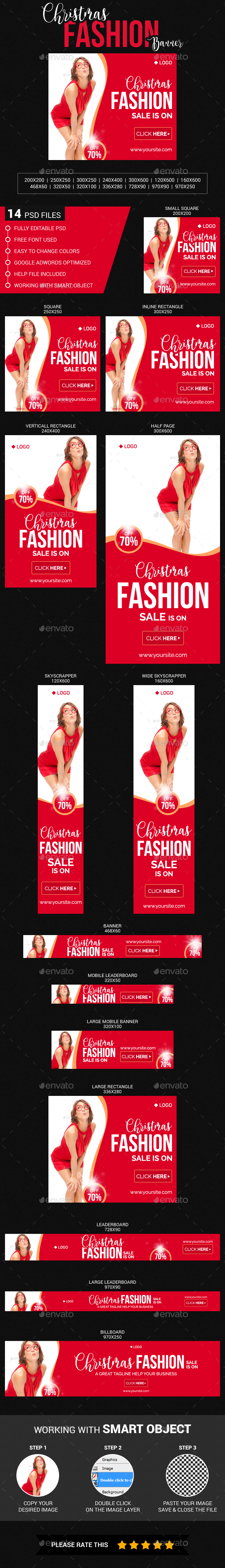 Christmas & New Year Fashion Sale - Banners & Ads Web Elements