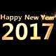 Happy New Year 2017 3D Gold Text - VideoHive Item for Sale