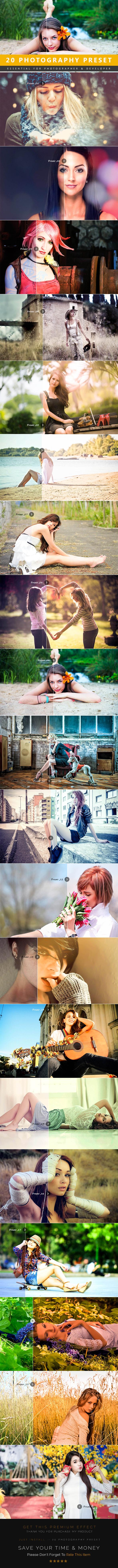 20 Photography Lightroom Preset - Lightroom Presets Add-ons