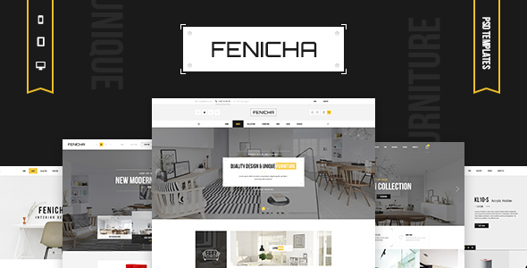 Fenicha - Interior & Furniture Store PSD Templates - Retail PSD Templates