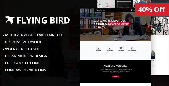 Flying Bird Multipurpose HTML5 Template