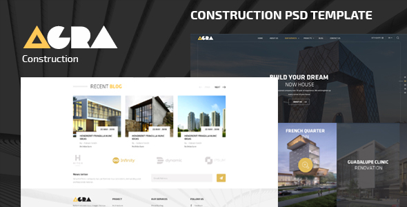 Agra | Construction Business PSD Template