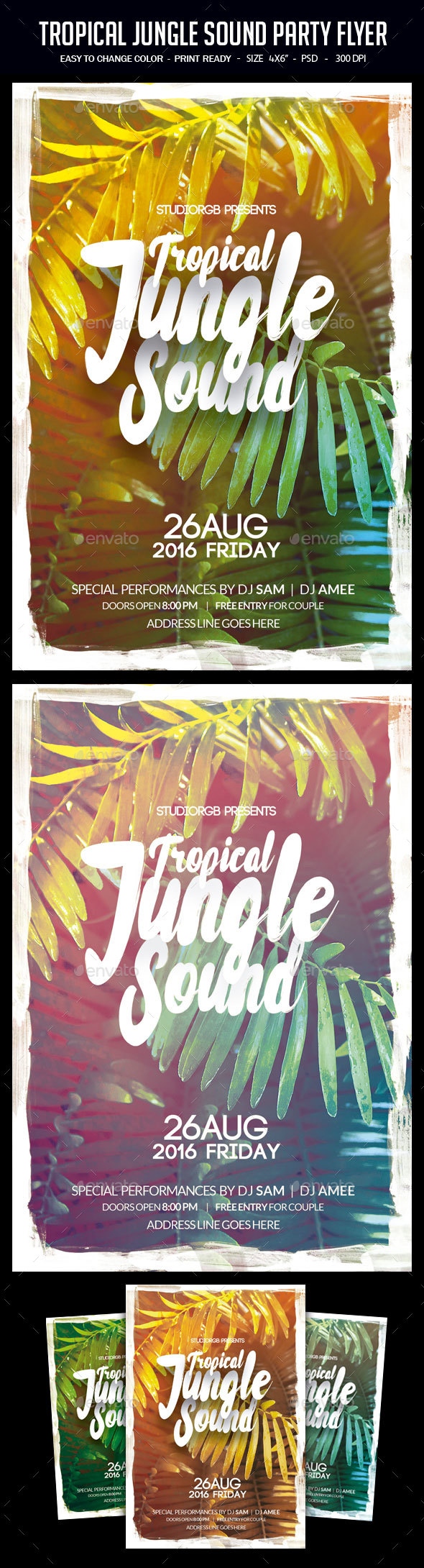 Jungle Sound Party Flyer - Clubs & Parties Events