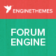 ForumEngine, Flat Responsive WordPress Forum Theme Nulled