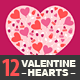 12 Valentine Hearts - GraphicRiver Item for Sale