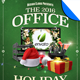 Office Holiday Christmas Party Flyer Template