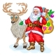 Santa Claus and Reindeer - GraphicRiver Item for Sale