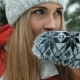 Charming Blonde Has Hot Tea Against Background of Winter Landscape - VideoHive Item for Sale