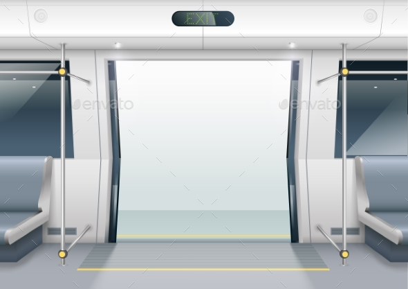 Subway Car Doors - Travel Conceptual