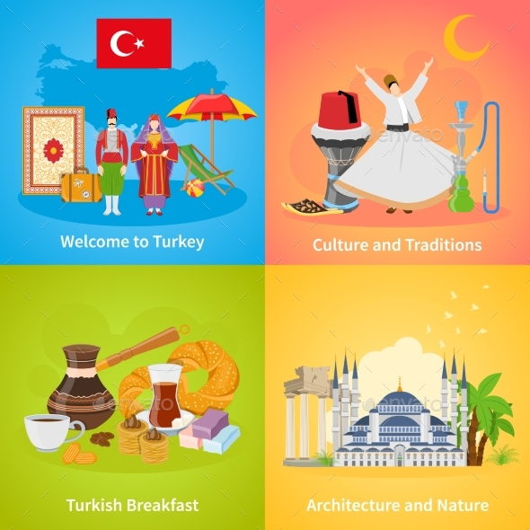 Turkey 2X2 Design Concept Set - Travel Conceptual