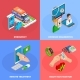 Digital Health Isometric Concept - GraphicRiver Item for Sale