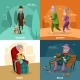Old People Cartoon Concept - GraphicRiver Item for Sale