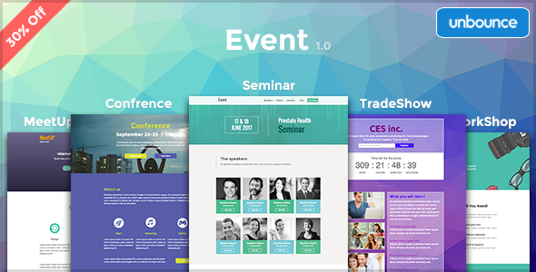 Event – Multipurpose Unbounce Pack