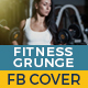 Fitness Grunge Cover Facebook - GraphicRiver Item for Sale