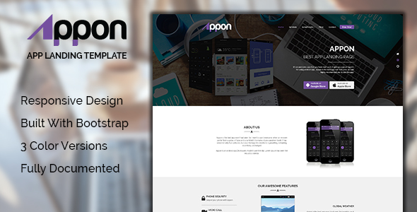 Appon HTML5 App Landing Page - Site Templates