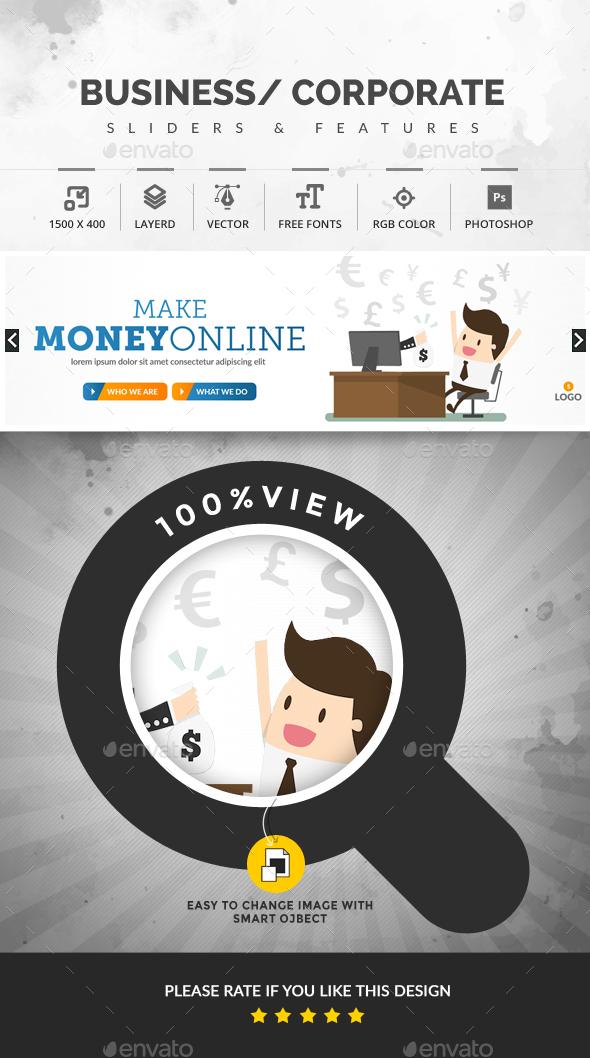 Make Money Online Slider - Sliders & Features Web Elements