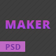 Maker - Personal PSD Template For Creative Professionals - ThemeForest Item for Sale