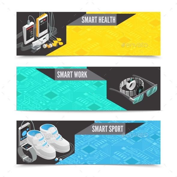 Wearable Technology Banners - Technology Conceptual