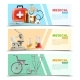Healthcare Flat Medical Horizontal Banners Set