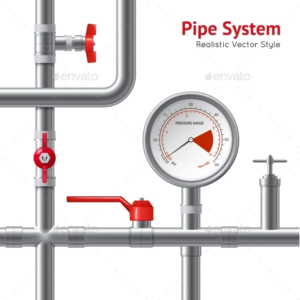 Plastic Pipe System Background - Man-made Objects Objects