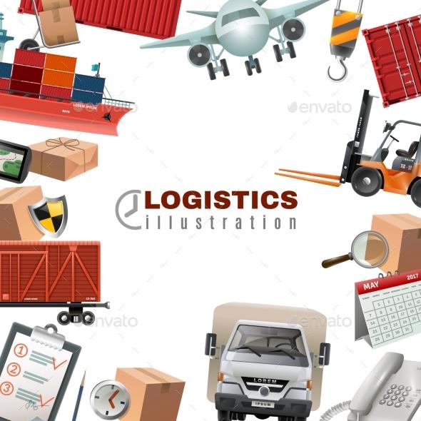 Logistics Colorful Template - Backgrounds Decorative