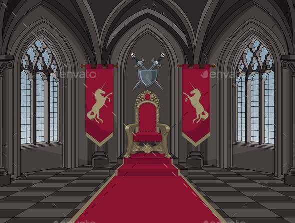 Medieval Castle Throne Room by Dazdraperma   GraphicRiver