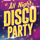 All Night Disco Party - GraphicRiver Item for Sale