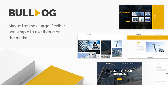 Bulldog – Construction – Architect – Building – Builder Multipurpose Theme