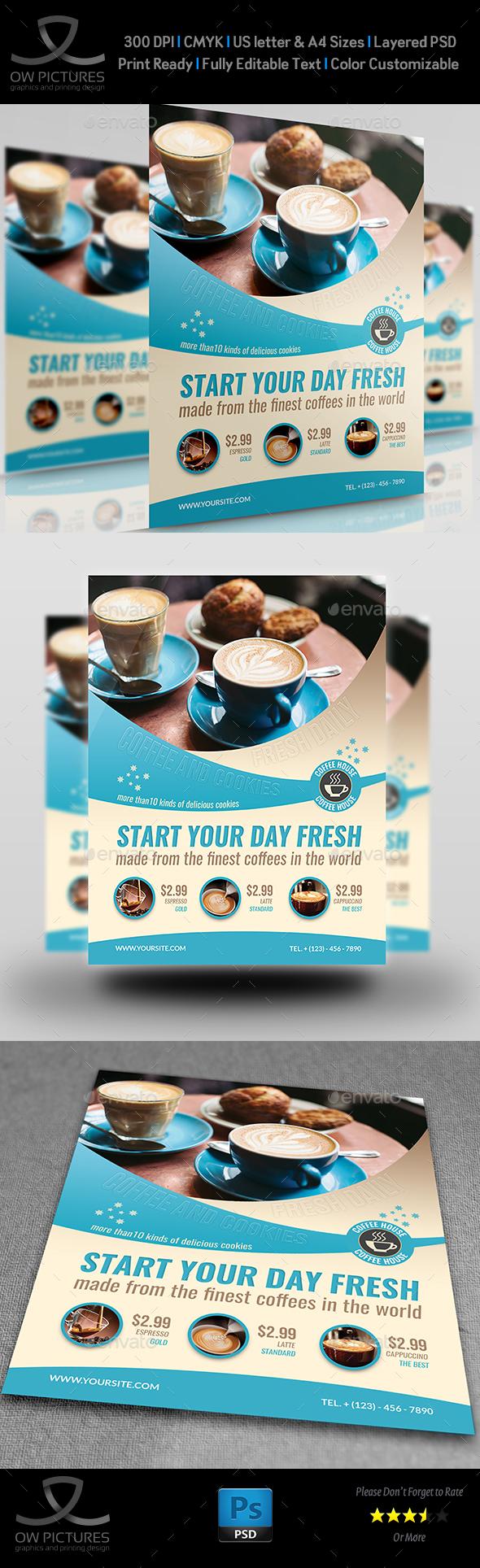 Cafe Flyer Vol.5 - Flyers Print Templates