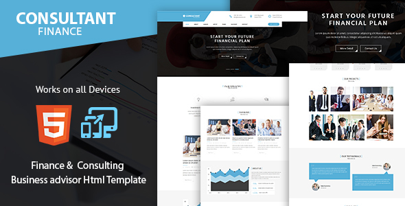 Consulting Finance and Accounts – Advisor Business Html Template