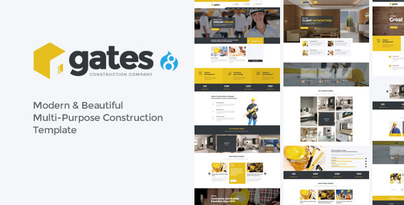 Gates - Multi-Purpose Construction Drupal 8 Theme - Creative Drupal