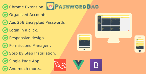 PasswordBag - Powerfull Password Manager - CodeCanyon Item for Sale
