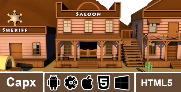 Gunslinger Duel - Capx - HTML5 - Admob - CodeCanyon Item for Sale