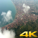 Aerial City by the Sea and Forest - VideoHive Item for Sale