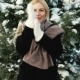 Beautiful Woman Jumps on Frost To Get Warmed, Winter Landscape - VideoHive Item for Sale